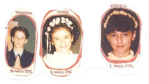 PRIMA COMUNIONE DANIELA, CHIARA, FRANCESCO